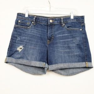 GAP Distressed Sexy Boyfriend Shorts